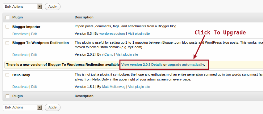Update Version[2 0 3] Of Blogger To WordPress Redirection Plugin